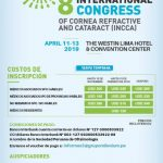 ¡Agéndalo ya! – 8 International Congress of Cornea Refractive and Cataract (INCCA)