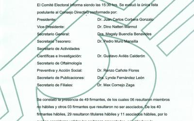 COMUNICADO Nº3 – Elecciones SPO Bienio 2019-2020
