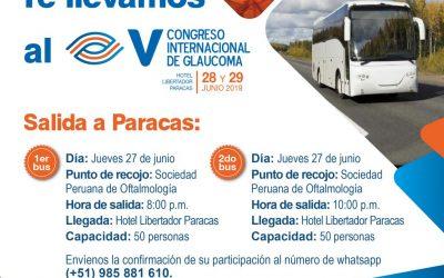 Te llevamos a Paracas – V Congreso Internacional de Glaucoma – 28 y 29 de Junio 2019