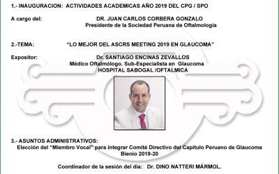 Sesión Científica del Capítulo de Glaucoma – Junio 2019