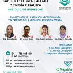 SESIÓN ONLINE CAPÍTULO CORNEA, CATARATA Y CIRUGÍA REFRACTIVA – SETIEMBRE2020