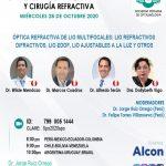 SESIÓN ONLINE CAPÍTULO DE CÓRNEA, CATARATA Y CIRUGÍA REFRACTIVA – OCTUBRE2020