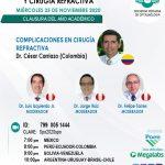 SESIÓN ONLINE CAPÍTULO DE CÓRNEA, CATARATA Y CIRUGÍA REFRACTIVA – NOVIEMBRE2020