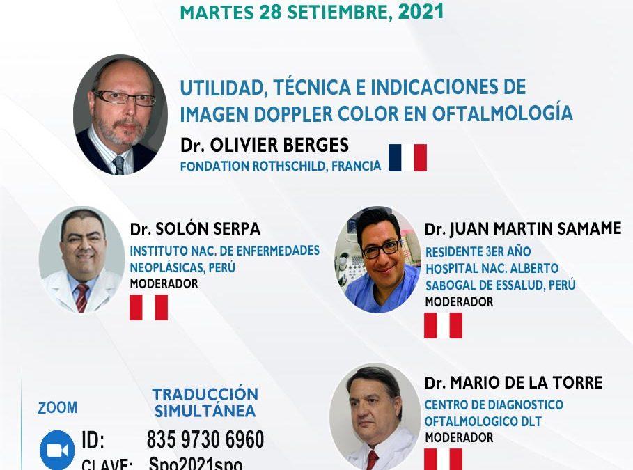 SESIÓN ONLINE CAPÍTULO DE ONCOLOGÍA Y PATOLOGÍA OCULAR PAOOS WEBINAR – SET2021